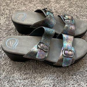 Dansko Sophie Petrol leather sandals